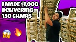 How I made $1000 Delivering 150 Chiavari Chairs