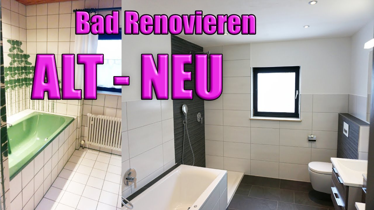 Badezimmer Sanieren Bad Renovieren - Youtube