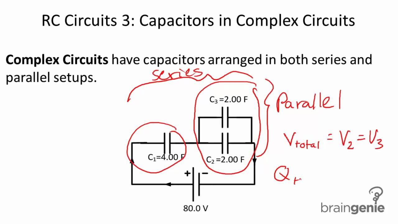 634 Rc Circuits 3 Capacitors In Complex Youtube Series Vs Parallel