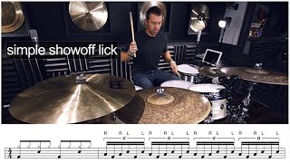 DRUM LESSON - Simple Show Off Lick - by Mike Johnston