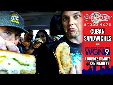 90 Miles Cuban Sandwiches with WGN Evening News Anchors Lourdes Duarte and Ben Bradley