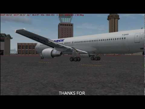 fs2004 Level-D 767 Engine start with TSS sounds