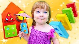 Бьянка и Геометрические фигуры - Развивающая игрушка Домик - Дада игрушки
