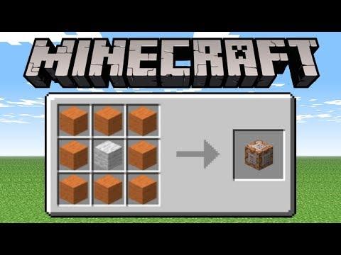 Minecraft PE - How To Craft Command Blocks! (Custom Crafting Map!)