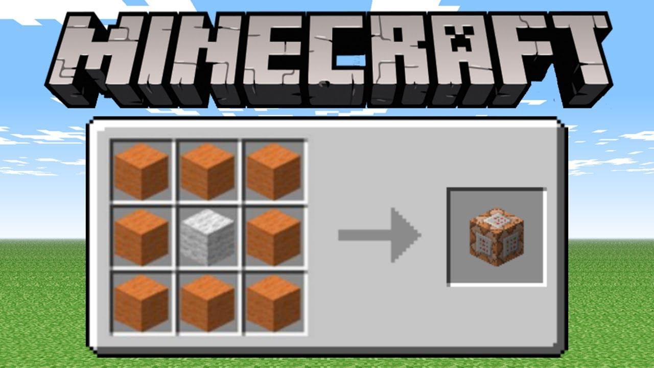 Minecraft PE - How To Craft Command Blocks!