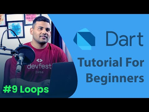 Dart Loops (While, Do-While and For) - #9 Dart Programming Tutorial for Beginners