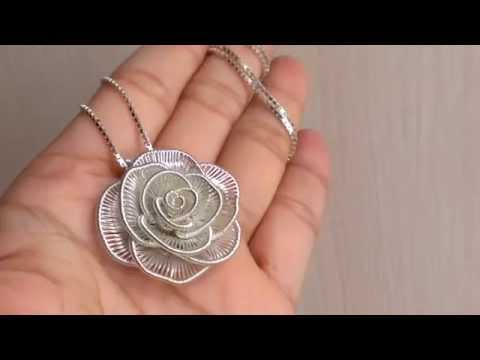 Anya S Handmade Wire Jewelry Rose Rosalie Necklace