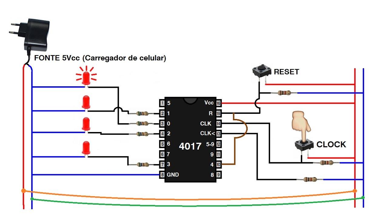 Circuito Led : Sequencial leds com circuito integrado cmos youtube