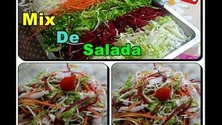 🌞Mix de Salada + Molho Para Salada Super Diferente com Déby & Ian🌞