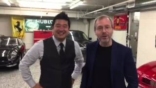 Message to Ian Poulter from ferraricollector_davidlee & Xavier Nolot