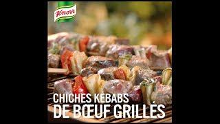 Chiches kébabs de bœuf grilles | Qu'est-ce qu'on mange Knorr®