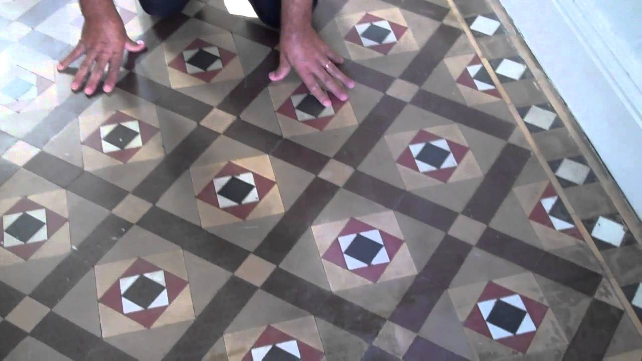 Victorian Tile Floor Cleaning Restoration Coventry 02476170185 2