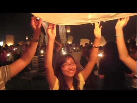 Thailand Loy Krathong Floating Lantern Festival of Lights