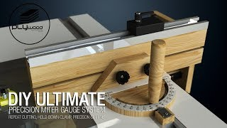 DIY Ultimate precision miter gauge