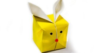 How to make a paper balloon rabbit -/- Origami rabbit