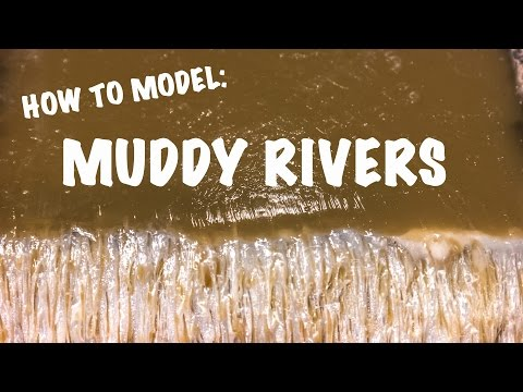 How to model muddy rivers using resin
