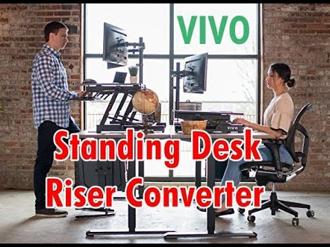 Vivo Height Adjustable Standing Desk Sit To Stand Gas Spring Riser