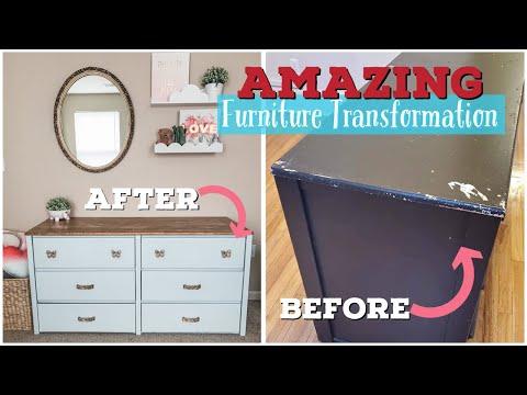 Furniture Transformation | Dresser Makeover | Farmhouse Furniture Makeover