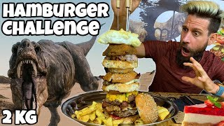 TREX BURGER Challenge (2KG) - Speed Challenge - MAN VS FOOD