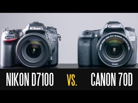 Canon EOS 70D vs Nikon D7100 - Full In Depth Comparison