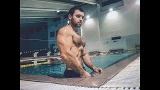 Flexing Show In Pool With Handsome Muscle God sergeymoroz.boss