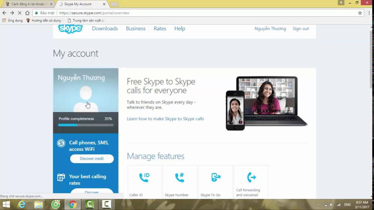 Cách tạo tài khoản Skype cho người dùng mới
