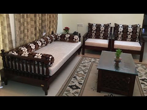 wooden sofa sets designs india brown sectional set indian seating lotus collection by rightwood