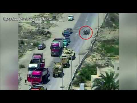 Tank VS Car Bomb | Egyptian Military Steamrolls Over ISIS Vehicle Threat | 7 dead, ~50 Saved