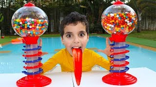 Gumball Machine! kids pretend play, funny videos for kids
