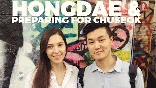 Hongdae & Preparing for Chuseok: Korean Thanksgiving 규호와 세라 홍대 쇼핑 (자막 CC)