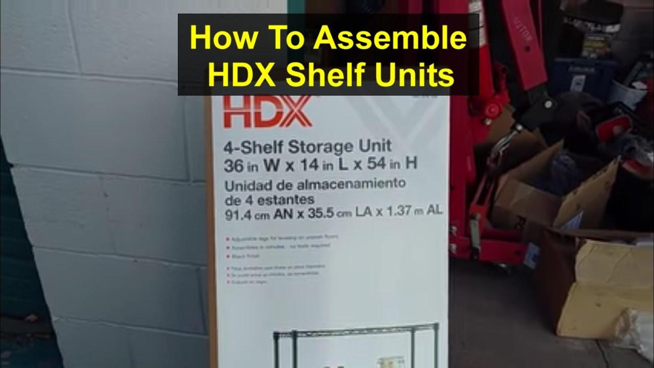 YouTube Premium & How to assemble HDX shelf storage unit. - VOTD - YouTube