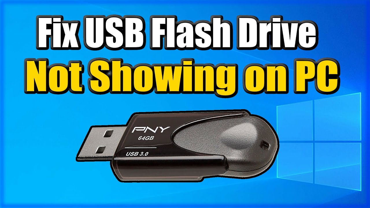 How to FIX USB DRIVE not showing up Windows 10 Easy Method