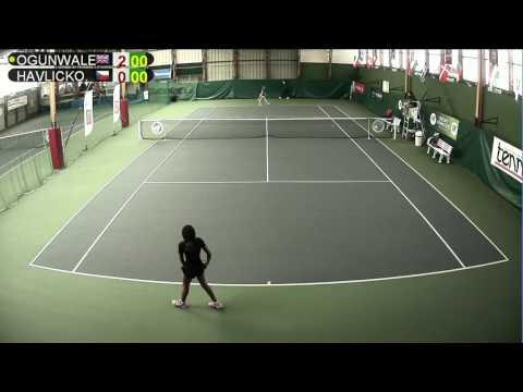 OGUNWALE (GBR) vs HAVLICKOVA (CZE) - Open Super 12 Auray Tennis - Court 1
