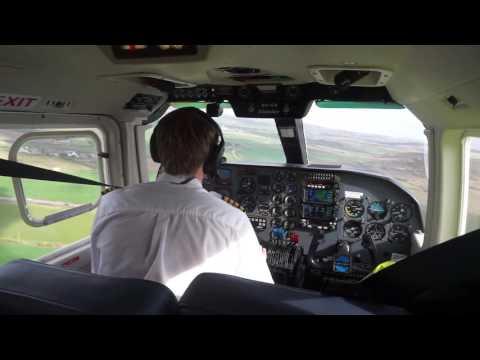 Skybus Islander - G-BUBP landing into LEQ