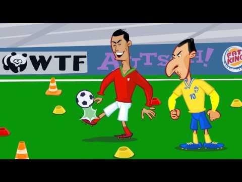 Ibrahimovic Vs. Ronaldo  Freekick War