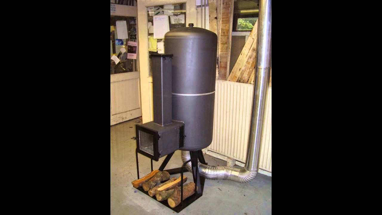 Rocket-stove heater - YouTube
