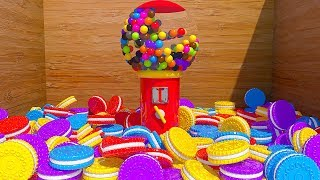 Learning Numbers with Gumball Machine and Cookies for Chidren