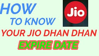 HOW TO KNOW YOUR JIO DHAN DHAN OFFER EXPIRE DATE #2