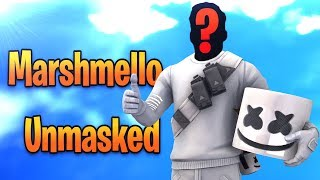 Marshmello Unmasked! Fortnite Funny Moments