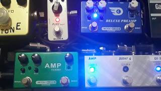 Mosky amp turbo and deluxe pre amp demo