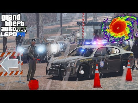 GTA 5 LSPDFR #546 | Florida Highway Patrol Helping To Evacuate People Out Of The Hurricane  Path