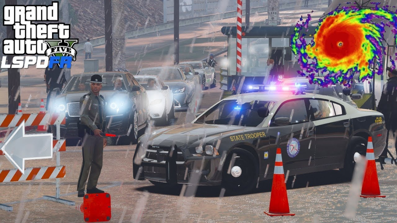 GTA 5 LSPDFR #546 | Florida Highway Patrol Helping To Evacuate People Out Of Hurricane Irma's P