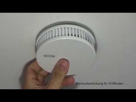 abus rwm250 rauchmelder testfunktion und alarm youtube. Black Bedroom Furniture Sets. Home Design Ideas