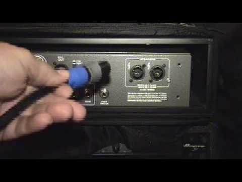 crossover cable wiring diagram 2001 dodge caravan speaker ampeg s mono bridged and speakon connectors youtube