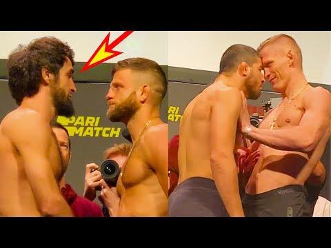Стычки на битве взглядов UFC/Забит Магомедшарипов-Келвин Каттар/Волков-Харди и др.