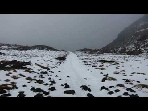 Tongariro Crossing Winter Wonderland