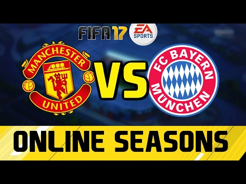 FIFA 17 online - Manchester United vs Bayern Munich || 90th minute Rooney Winner
