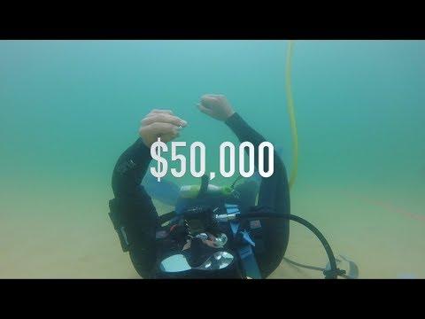 Found $50,000 CASH Biggest Platinum Diamond Gold Antique, Ocean Treasure Metal Detecting