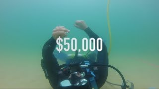 Found $50,000 CASH Biggest Platinum Diamond Gold Antique Rings, Ocean Treasure Metal Detecting thumbnail