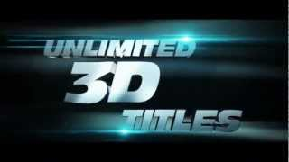 Action Movie Titles 3D- After Effect/C4D Template